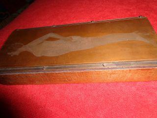 Alte Druckvorlage - Klischee,  Kupfer Auf Holz.  Corsage,  Mieder Werbung U.  S.  A Bild