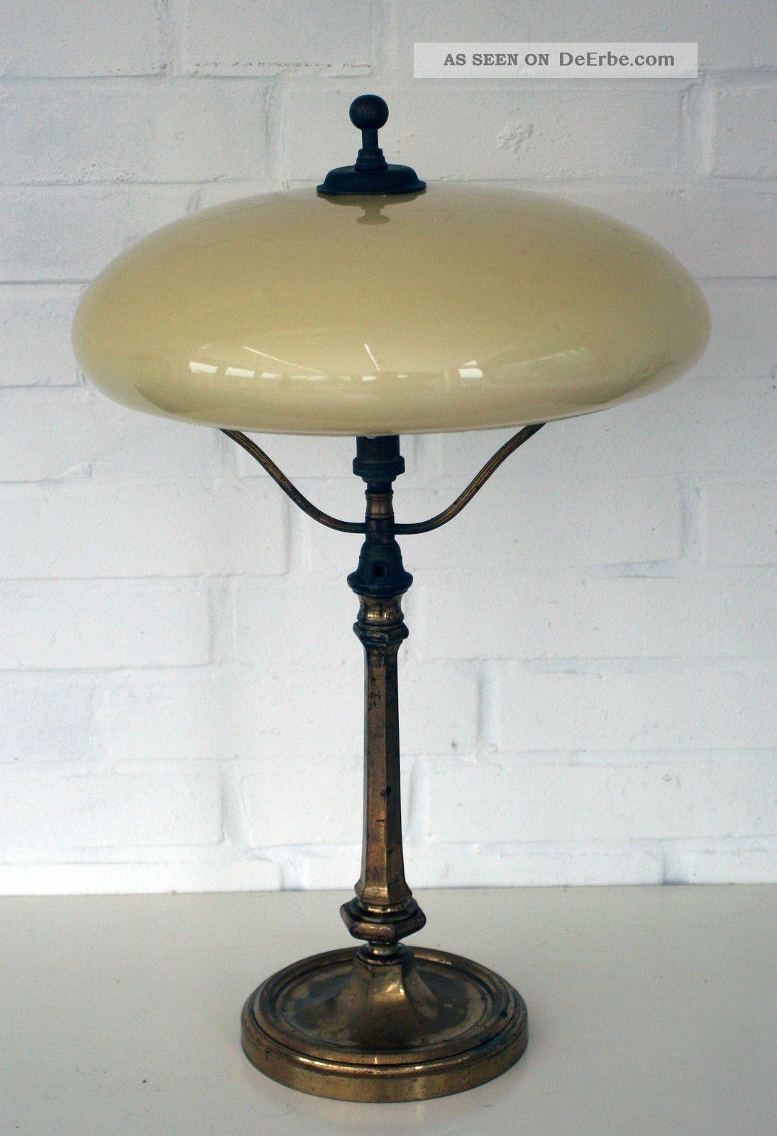 jugendstil tischlampe messing glas berliner lampe. Black Bedroom Furniture Sets. Home Design Ideas