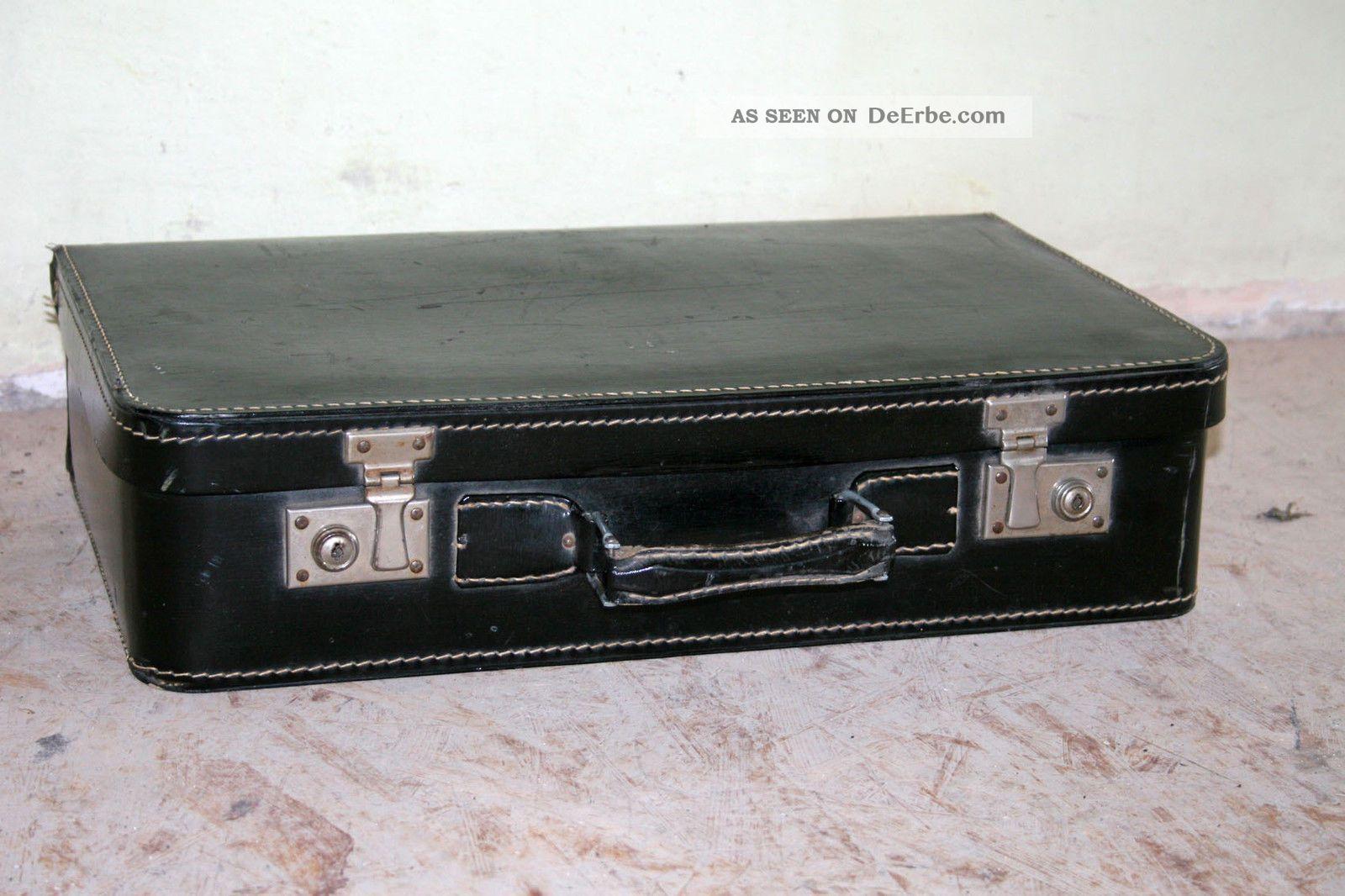 Vintage Koffer vintage reisekoffer hartschale leder koffer 50x31x13cm schaufenster oldtimer
