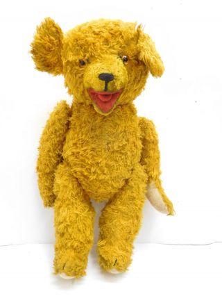 Eso - 15766 Älterer Teddy Bär Mit Holzwollstopfung L:ca.  42cm Für Bastler/ersatztei Bild