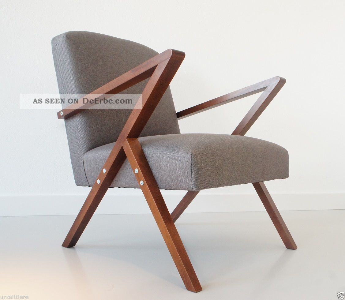 Retro chair danish design lounge relax tv sessel mid for Design stuhl
