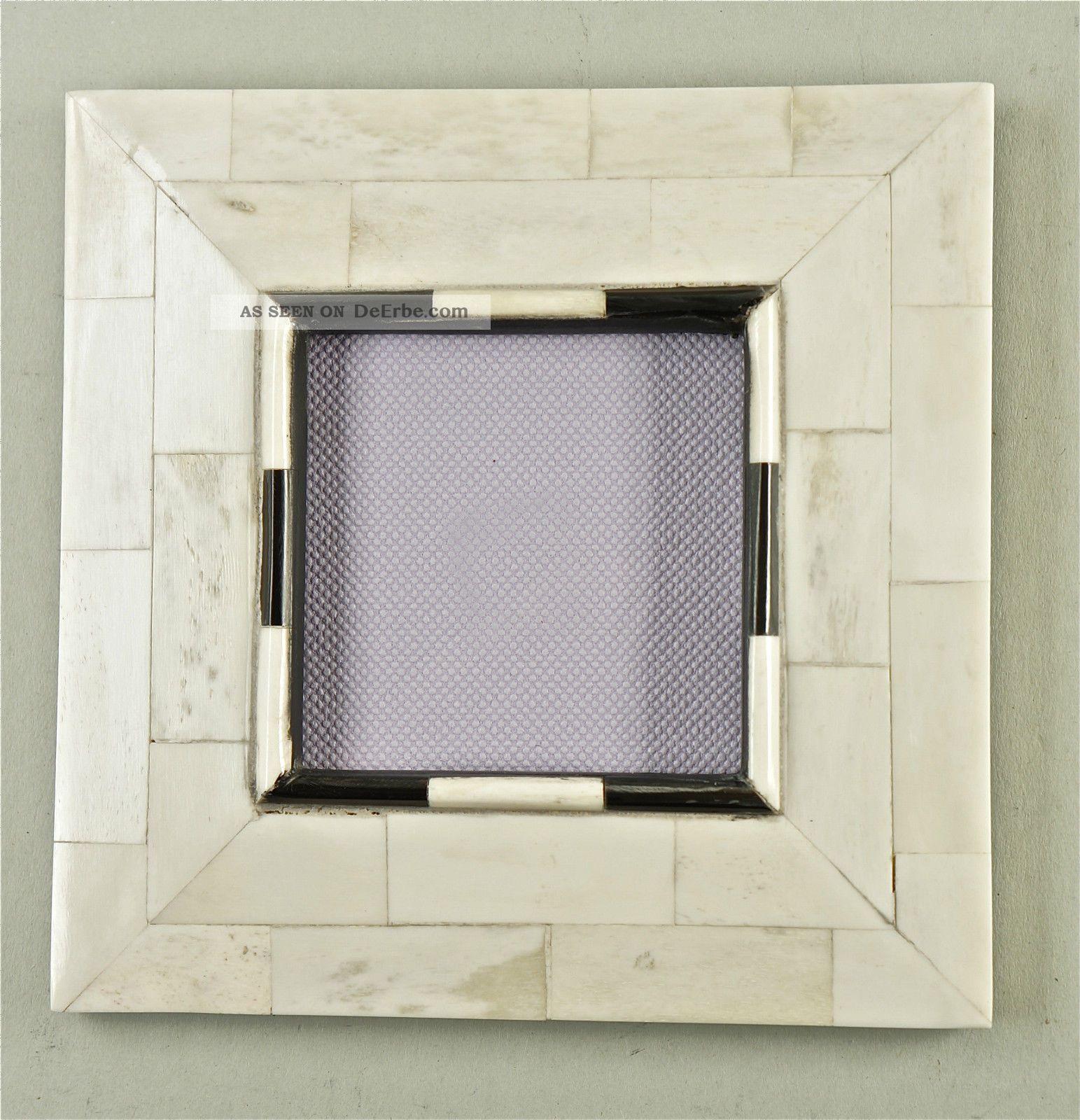 feiner fotorahmen wechselrahmen beinbesatz auf holz mit glas und aufsteller. Black Bedroom Furniture Sets. Home Design Ideas