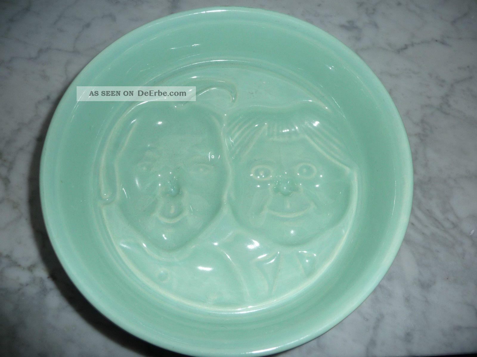 alte keramik pudding form gr n max und moritz. Black Bedroom Furniture Sets. Home Design Ideas