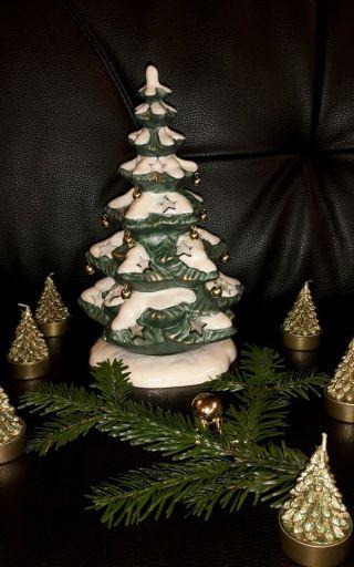 Weihnachten Tannenbaum Goebel Windlicht Bild