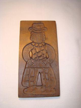 Altes Holzmodel 30 X 14,  5 Cm Springerle Mann Spekulatius Model Holz Backform Bild