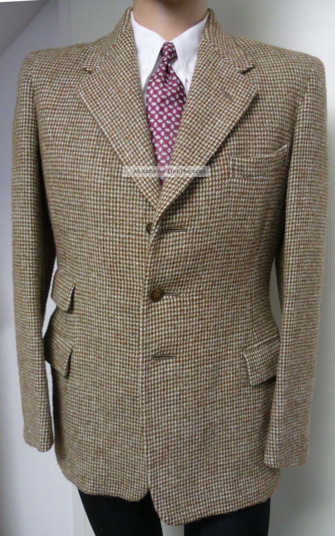1930er 40er sakko jacke anzug 48 harris tweed sportcoat jacket vintage swing. Black Bedroom Furniture Sets. Home Design Ideas
