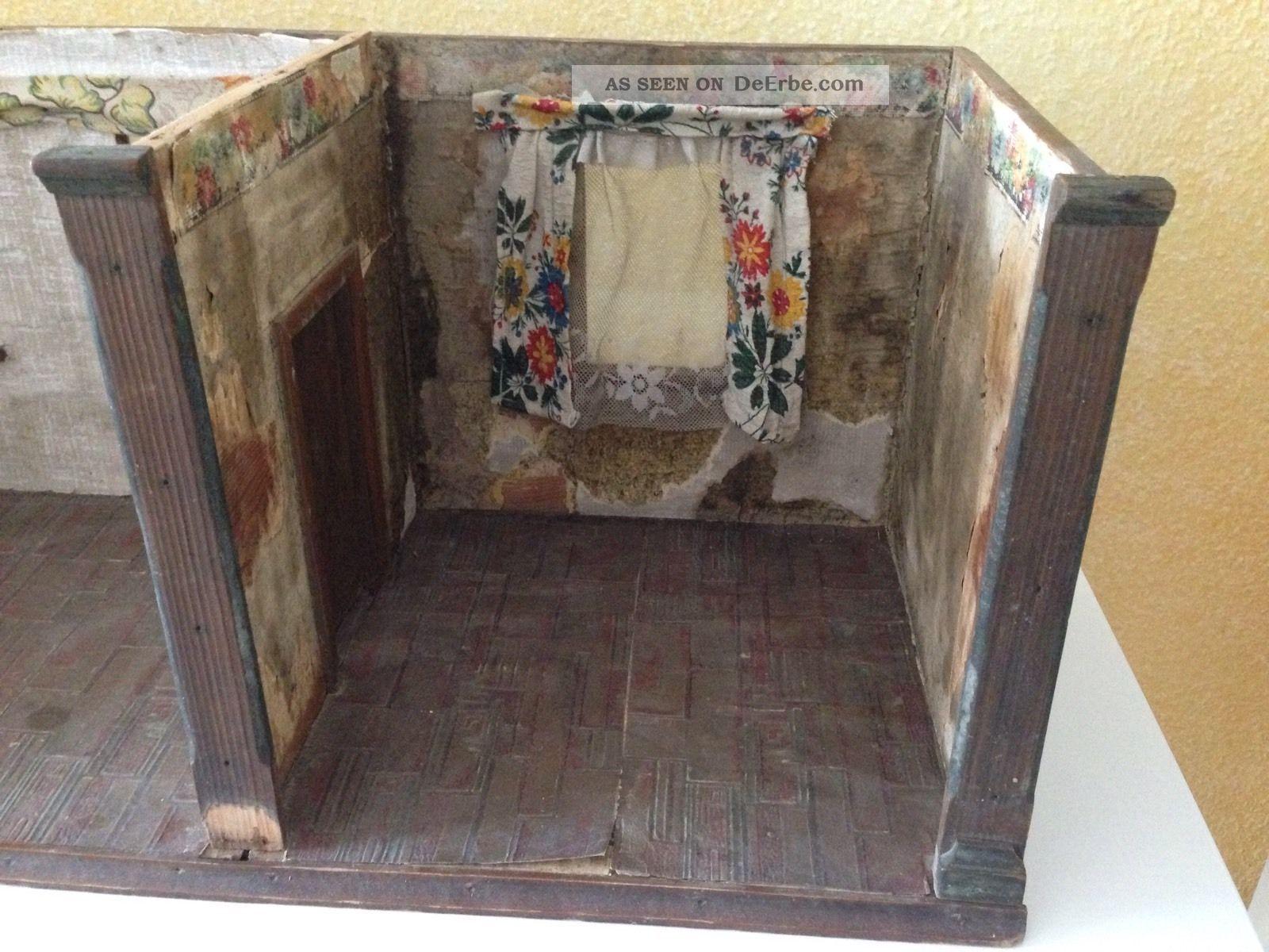 alte puppenstube geh use um 1900 antike puppenk che hacker. Black Bedroom Furniture Sets. Home Design Ideas
