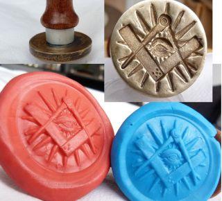 Wappen Petschaft Tempelritter Mason Freimaurer Wax Seal Bild