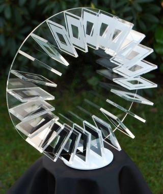 Op Art,  Objekt,  Konkrete Kunst,  Acrylglas,  Handsigniert,  H.  Heinecke,  D52 Bild