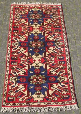 Orientteppich Teppich Adler Motive Kars Kazak / Kasak Anatolien Türkei 207x103cm Bild