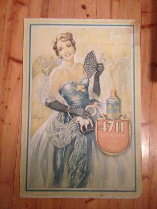 4711 Plakat Aus Den 50ern,  Auf Karton Gezogen Bild