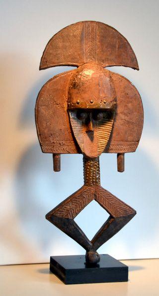 Kota Reliquary Sculpture - African Art - Reliquaire Africain Figure Mask Afrika Bild