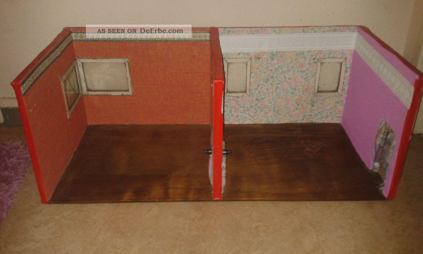grosse alte antike zweiraum holz puppenstube bastler. Black Bedroom Furniture Sets. Home Design Ideas