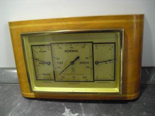 Altes Hygrometer - Barometer - Thermometer Der Firma Gischard Bild