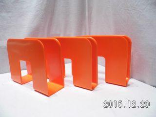 3 Plattenständer Gustavsberg Sweden Design 0688 Lp Holder Orange 70er Jahre Bild