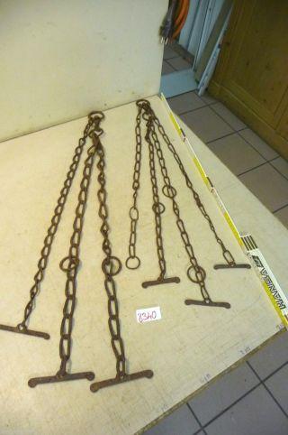 Nr.  8340.  2x Alte Ketten Rostig Eisenketten Stahlketten 1,  8 Kg Old Iron Chains Bild