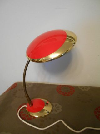 Wunderschöne Tischlampe Leselampe 60er Schwanenhals Bild
