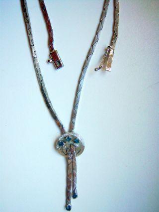 Alte Jugendstil Collier Kette 835 Silber M.  Steinen Saphire Halskette Bild