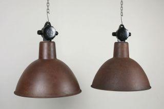Industrielampe,  Fabriklampe,  Lbl,  Bauhausstil,  Emaillelampe,  Rostoptik Bild