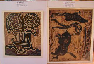 Picasso Pablo Les Banderilles Und Le Vase De Fleurs 1962 Expertisen Bild