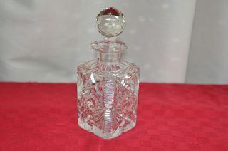 1 Glas - Karaffe,  Glasfläschen,  Kristallkaraffe (kellerfund) Bild