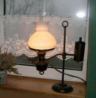 Gute Alte Tischlampe Schreibtischlampe Leselampe Messing Bild