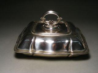 Elegante Jugendstil Silber Plated Legumiere Kleine Terrine Ca 1915 Epns England Bild