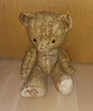 Alter Teddy - Bär Mit Holzwolle - - Selten Bild