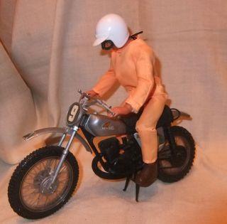Motorrad Honda Motocross Cr250m Mattel 1974 Mit Fahrer Action Figur Mattel 1971 Bild