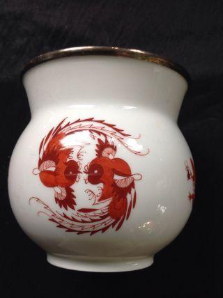 Meißner Porzellan - Vase Mit Silberrand Bild