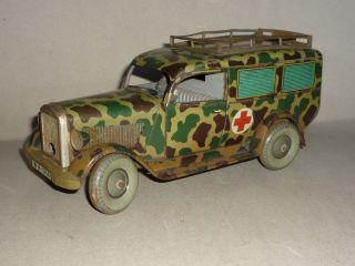 Altes Orig.  Tipp & Co Sanitätsfahrzeug Krankenwagen Militärfahrzeug 23 Cm Länge Bild