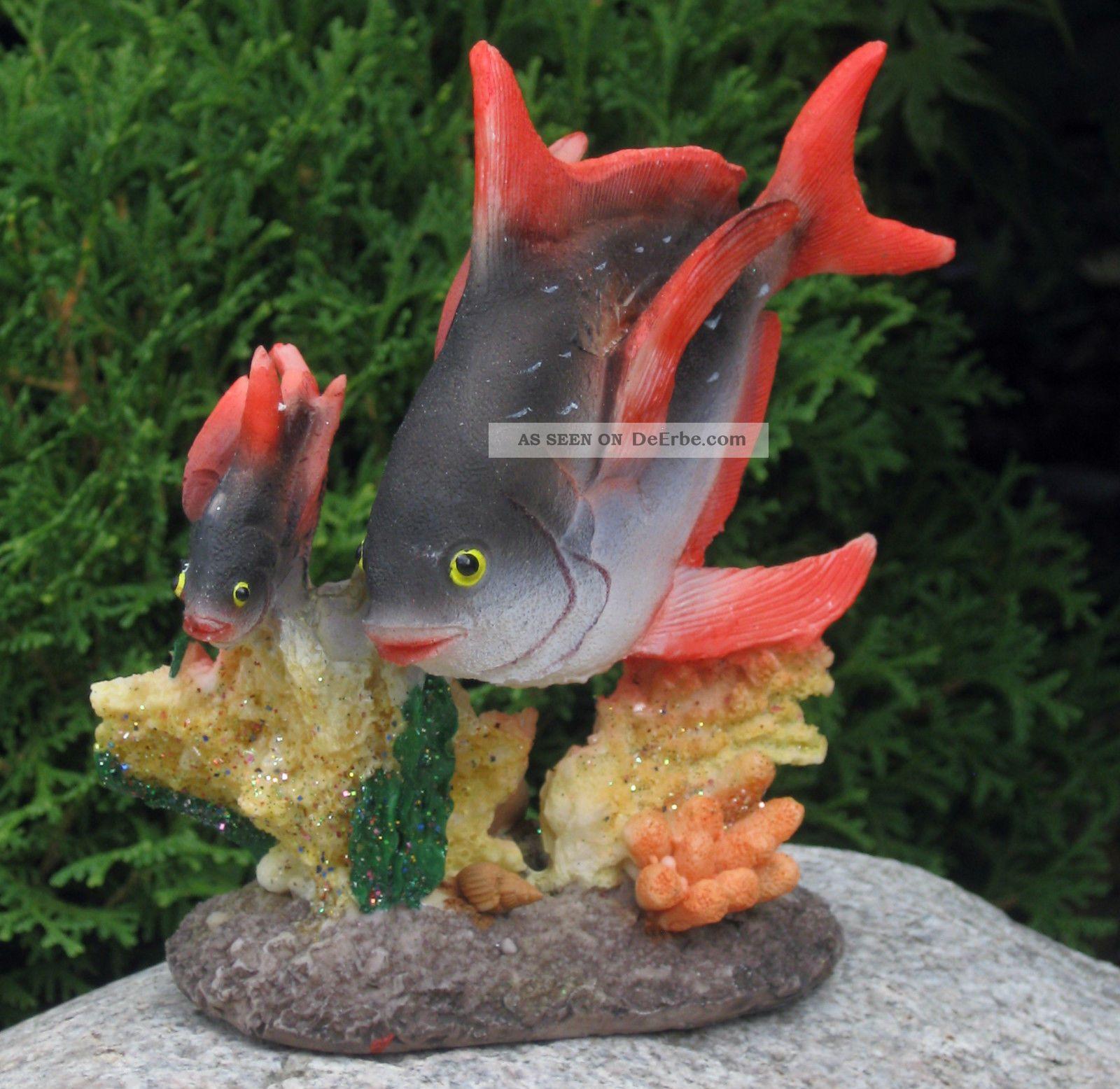 Fisch fische koralle maritim aquarium badezimmer bad figur for Deko fische plastik