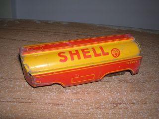 Hwn Blechspielzeug - Shell Tankauflieger - Bastelstück - 50er/60er Jahre Bild