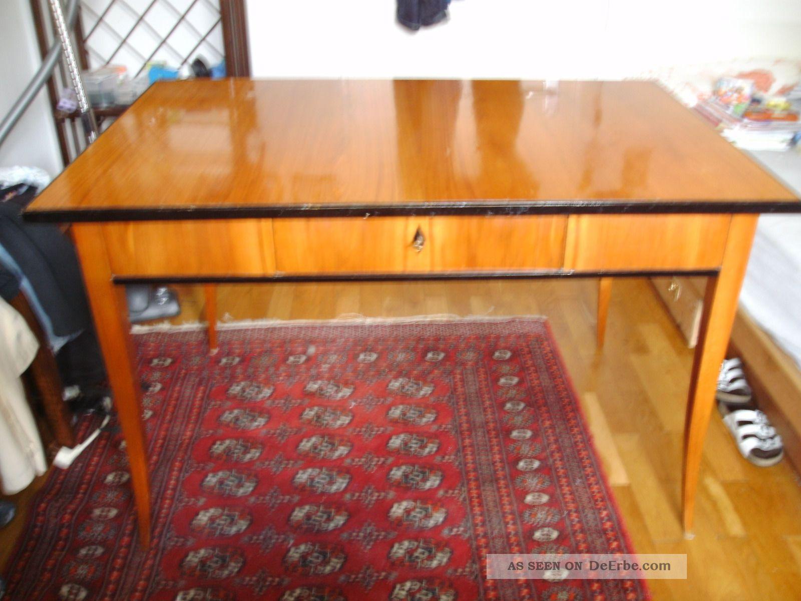 biedermeier schreibtisch mit schublade kirschbaum b 121. Black Bedroom Furniture Sets. Home Design Ideas