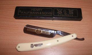 Altes Rasiermesser Mercantor Extra Henry Kaufmann & Sons Solingen Bild