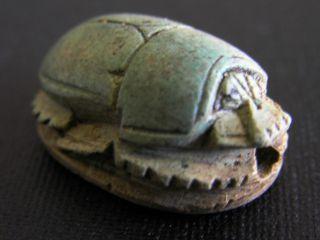 Altägyptischer Steatit Skarabäus - Ca 1500 V.  Chr. Bild