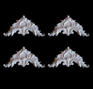 4x Gips Verzierung Ecken Dekor Ornament Stuck Gips Relief Stuckdekor Xl Bild