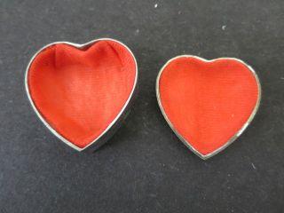 Ae16) Alte Schatulle Schmuckkästchen In Herzchenform Aus Metall Bild