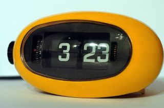 70er Vintage Klappzahlenwecker Flip Clock No 5rd005 Japan Panton Space Age Pop Bild