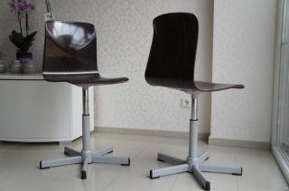 1 V 6 Woodmark Drehstuhl Bürostuhl Stuhl Pagholz 60s 70s Vintage Mid Century Bild