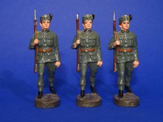 Elastolin: 3 Mann Österreichische Heimwehr 7,  5 Cm Bild