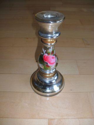 1 Stück Kerzenständer Bauernsilber Um 1900 Bild
