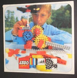 Alter Lego System Prospekt Bauanleitung Für 800,  801 Bild