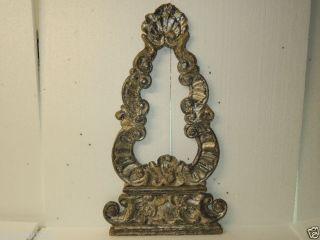 1 Alter Orig.  Barocker Reliquienrahmen,  Holzgeschnitzt,  Versilbert 18.  Jhrt Bild