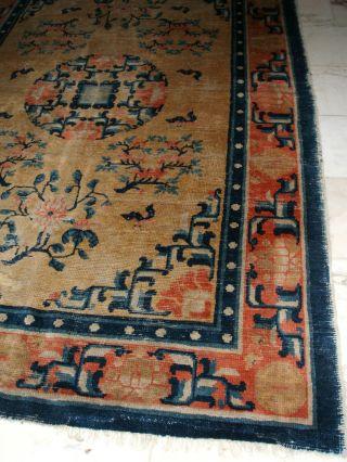 Antique Chinese / Tibetan Rug Antiker Chinoise Tibet Teppich Tapis Ancien Bild