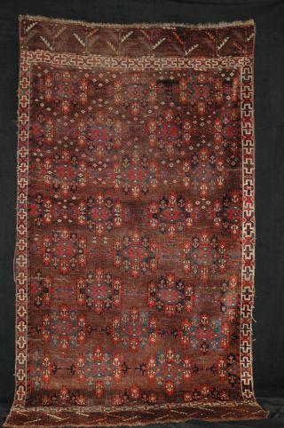 Antique Orientteppich Yomut Jomud 225x122 Turkmen 1850 Rug Tribal Tappeto Tapis Bild