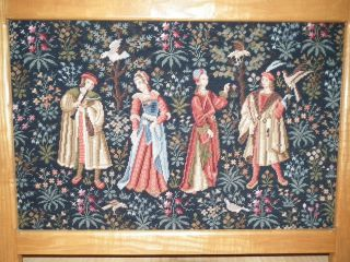 Altes Gobelin Stickbild Im Holzrahmen WunderschÖne Handarbeit Bild
