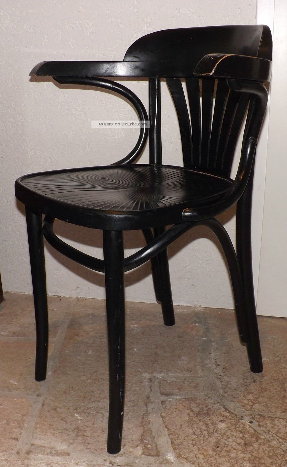 kaffeehausstuhl armlehnstuhl schwarz bugholz radomsko thonet art deco 1 v 2. Black Bedroom Furniture Sets. Home Design Ideas