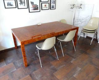 Milo Baughman Table Tisch // Chef Schreibtisch // Eames Ära Wurzelholz 70er Bild