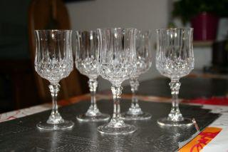 Cristal D ' Arques,  5 Edle Bleikristall Sherry/likÖr GlÄser,  Rautenschliff,  Top Bild